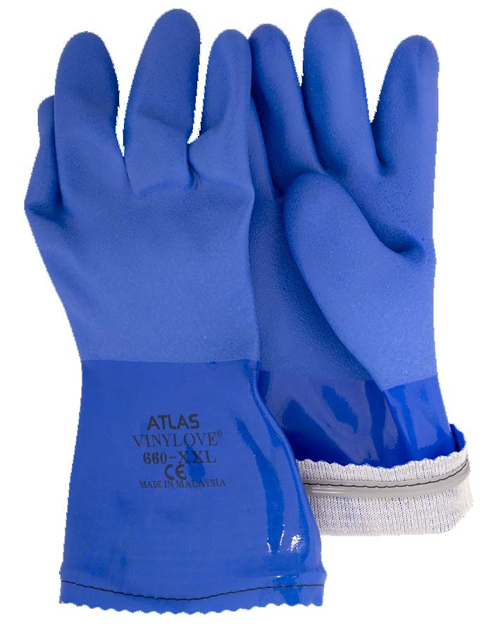 Blue Triple-dipped PVC Gloves New Standard | Chemical