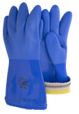 Blue Triple-dipped PVC Gloves New Standard